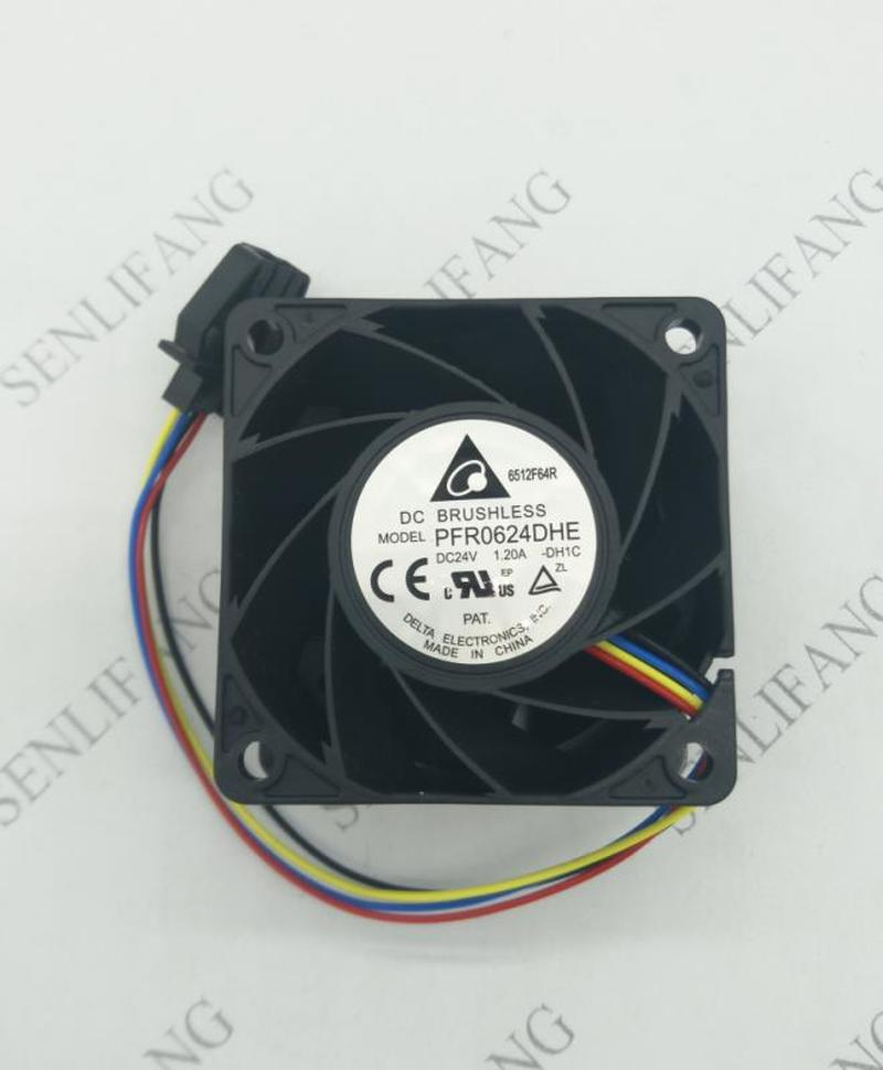 Free Shipping  PFR0624DHE -DH1C DC 24V 1.20A 60x60x38mm 4-Wire Server Cooler Fan