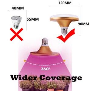 Image 5 - Led büyümek ışık tam spektrumlu bitki ışık Phy lamba E27 lamba büyümeye yol açtı yetiştirme bitkiler için ışık kapalı fidanları su geçirmez 30Led