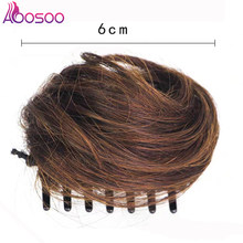 AOOSOO Curly Chignon Hair Buns claw Clip In Hairpiece Extensions Synthetic High Temperature Fiber Chignon(China)