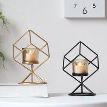 Formas geométricas suporte de vela centro mesa café preto sala estar decoração casa presentes