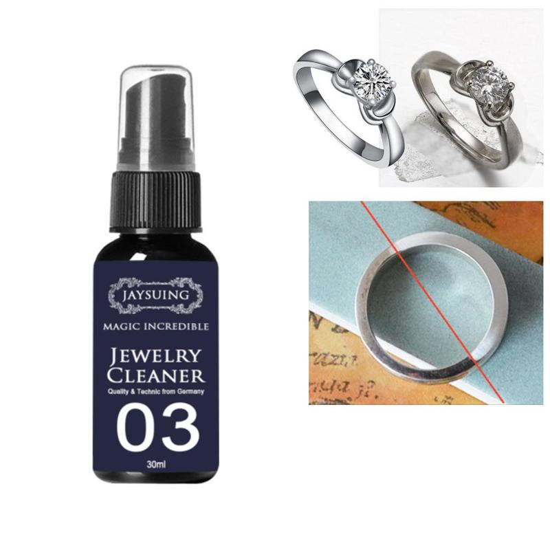 30ml Shine Jewelry Cleaner For Cleaning Gold Watch Diamond Ring Rust Gold Silver Detergent Removal Of Rings Making Jewelry Tools