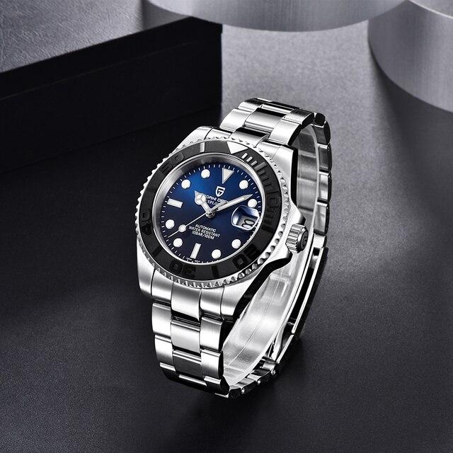 PAGANI Design Men Automatic Watch Sapphire Luxury Mechanical Wristwatch Stainless Steel Waterproof Watch Men relogio masculino 5