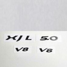 Letters-Emblem Jaguar Badge Fender-Trunk Logo-Replacement Black Gloss XF V6 V8 for Car-Styling