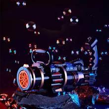 2021 Bubble Machine for children Bubble Blower Maker Bubble gun Wedding Supplies Electric Sound Light Automatic Kids Toy