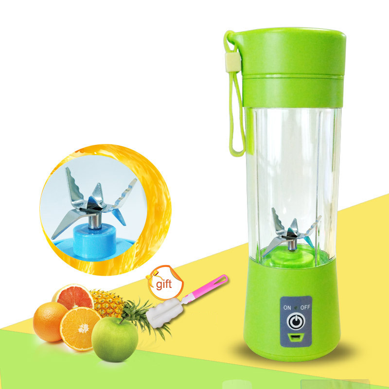 500ML Portable Juice Blender USB Juicer Cup Multi-function Fruit Mixer 2 4 6 Blade Mixing Machine Dropshipping
