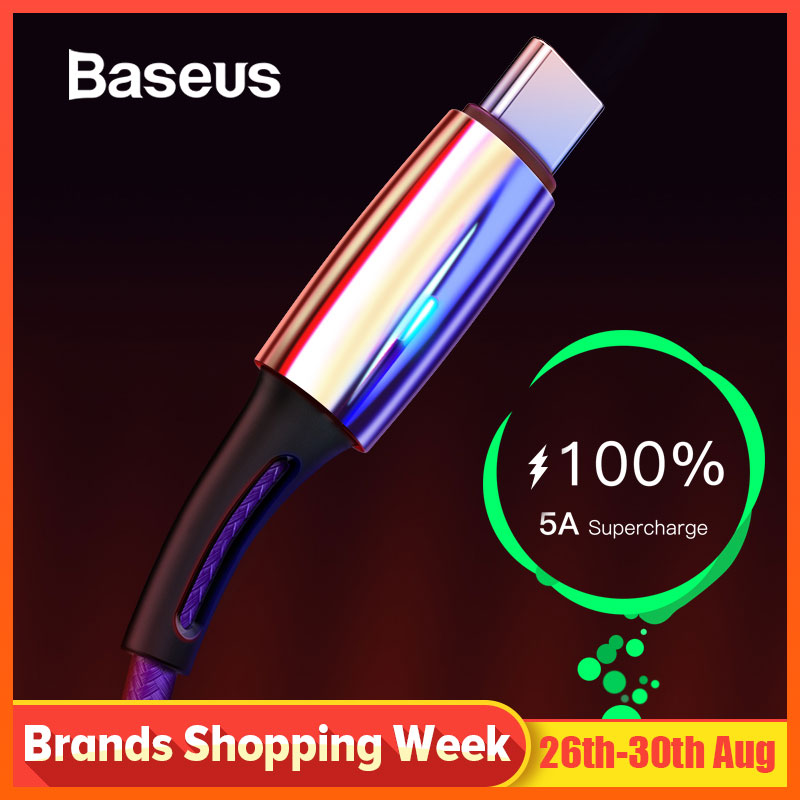 Baseus C-Cable Mate Supercharge P20-Lite Usb-Type Huawei 5A for P30-Pro