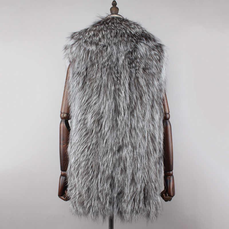 Yeni geliş ücretsiz kargo gerçek doğal tilki kürk yelek kadınlar tam Pelt gerçek tilki kürk ceket kadınlar hakiki deri jile toptan
