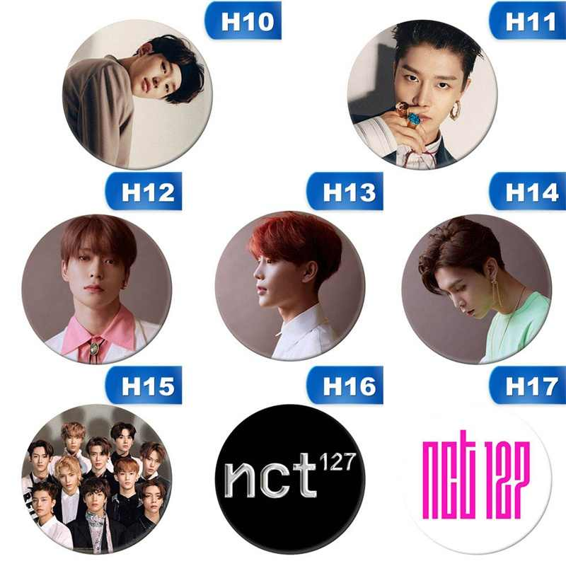 Korean KPOP NCT NCT127 Chain Album Brooch Pin Badge Accessories For Clothes Hat Backpack Decoration