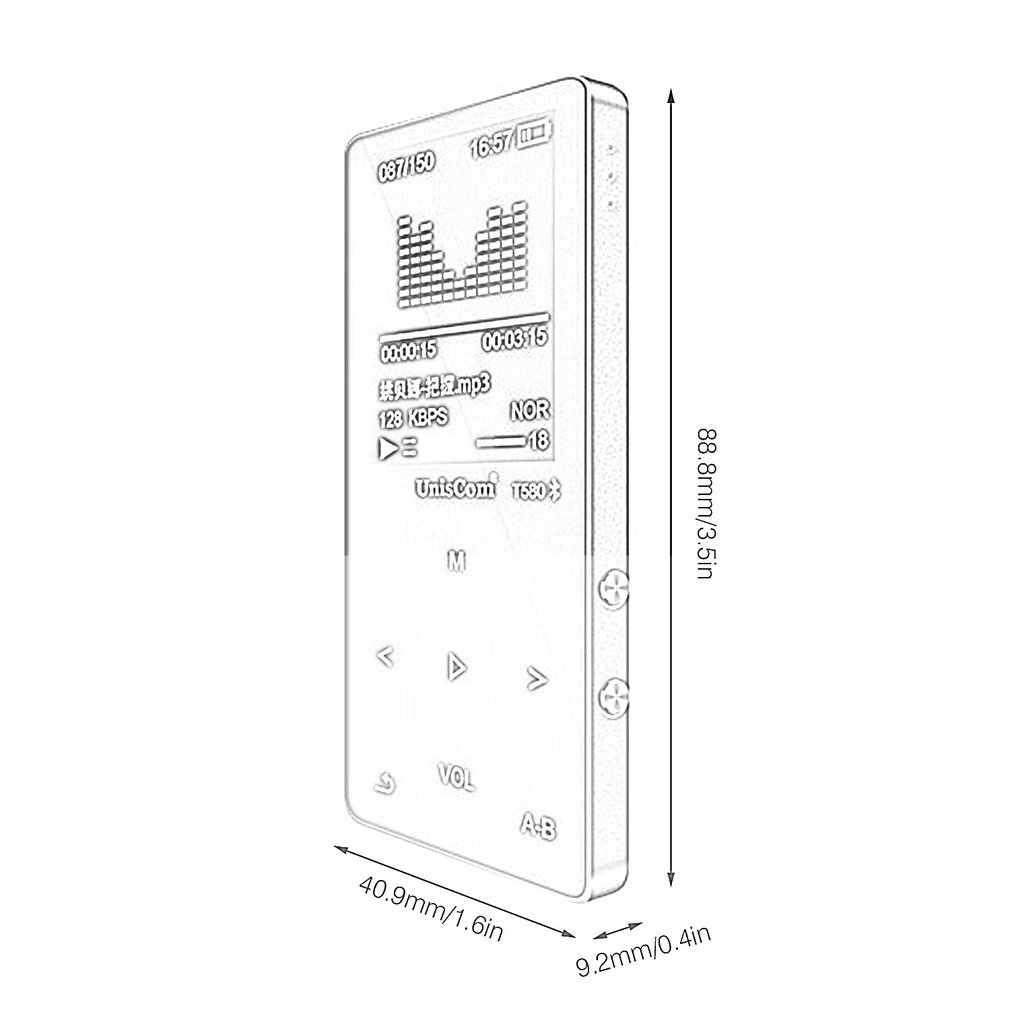 """1.8 """"บลูทูธMP3 16GB MP4 ผู้เล่นUSB2.0 OTGวิทยุFM Touchปุ่มวิทยุพร้อมไมโครโฟนTF Card"""
