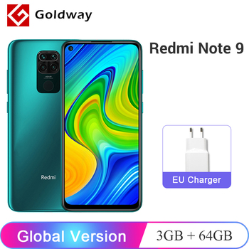 Global Version Xiaomi Redmi Note 9 3GB 64GB / 4GB 128GB Smartphone Helio G85 Octa Core 48MP Quad Rear Camera 6.53 1