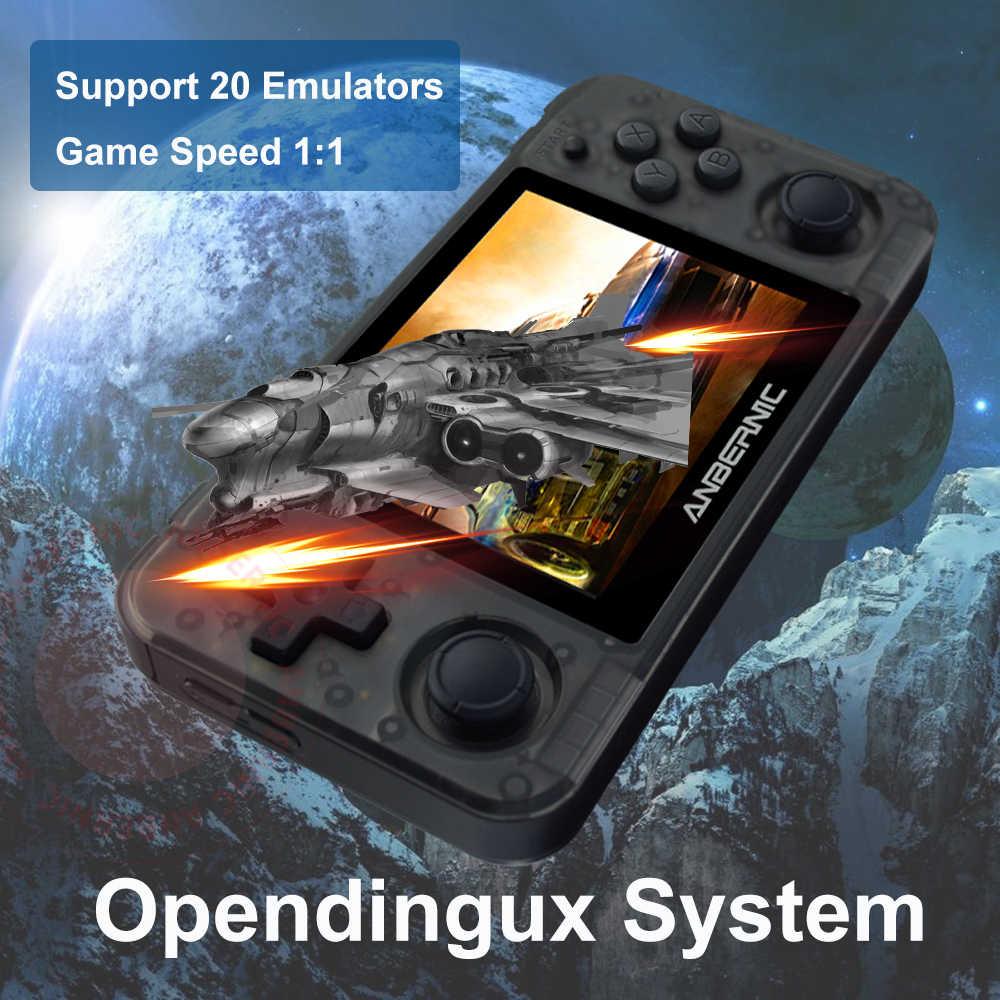 """جديد RG350P anberonic الرجعية لعبة وحدة التحكم 3.5 """"IPS PC مات شل HDMI لعبة فيديو لاعب المحمولة جيب وحدة تحكم بجهاز لعب محمول"""