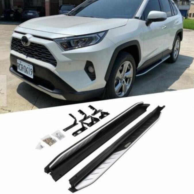 For 2019 2020 Toyota RAV4 Side Step Running Board Nerf Bar Protector Guard