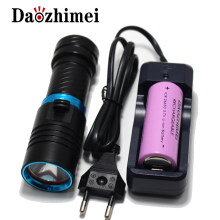 5000LM XM-L2 LED Scuba Diving Flashlight Ajustable Light Torch Underwater 100m Waterproof Diving Lamb Light+26650 Battery Charge