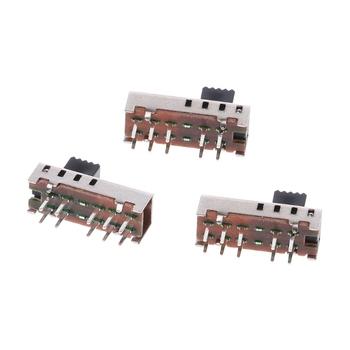 10 sztuk SS24E01-G5 przełączniki suwakowe pionowe 0 5A 10 Pin 4 pozycja przełącznik dwupozycyjny 40JA tanie i dobre opinie CN (pochodzenie) 40JA1AA700493 DC 50V 0 5A -25~85°C AC 500V 1 min