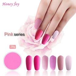 Bardzo drobne różowe kolory 28 g/pudło zanurzenie w proszku bez lampy utwardzanie paznokci proszek do zanurzania żelowy lakier do paznokci efekt salonu naturalny suchy