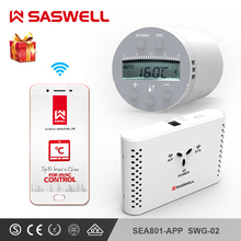 SASWELL WIFI Smart Thermostat Temperature Controller for Water/Electric floor Heating Water weekly programmable termostato hy02b05 connect wifi enabled touchscreen programmable thermostat ac220v wifi temperature regulator for boilers