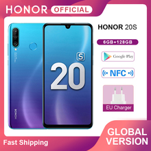 New Global Version Honor 20S 20 S Mobile Phones 6GB 128GB 6.15″ Dewdrop Screen 24MP Front Cam 48MP Triple Cams Smartphone NFC