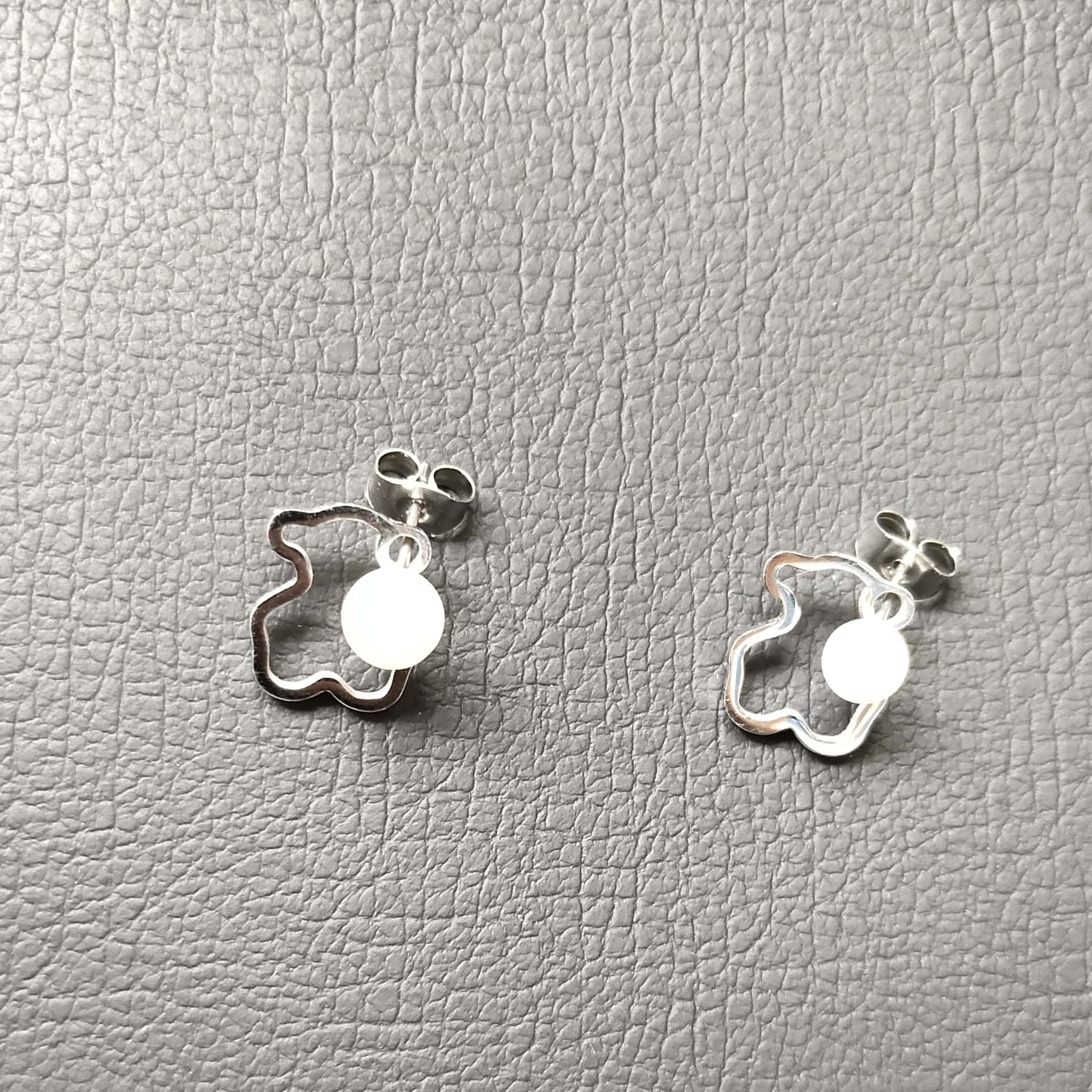 Fashion Jewelry Bear Stainless Steel Factory Wholesale Hollow Simple Earrings Wholesale Aretes De Mujer Modernos 2020