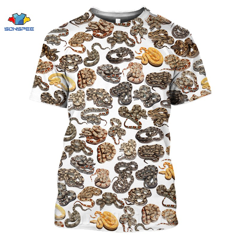 Anime 3D Print Game Horror Animal Snake T Shirt War Men's T-shirts Women's Fashion Harajuku Shirts Homme Oversized Cobra Tshirts