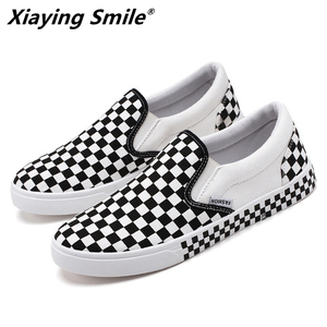 Image 1 - 2019 Fashion canvas Spring Autumn Season New Bean Shoes Foot Tic Lazy Shoes Convenient for Driving Shoes Outdoor Casual Shoes