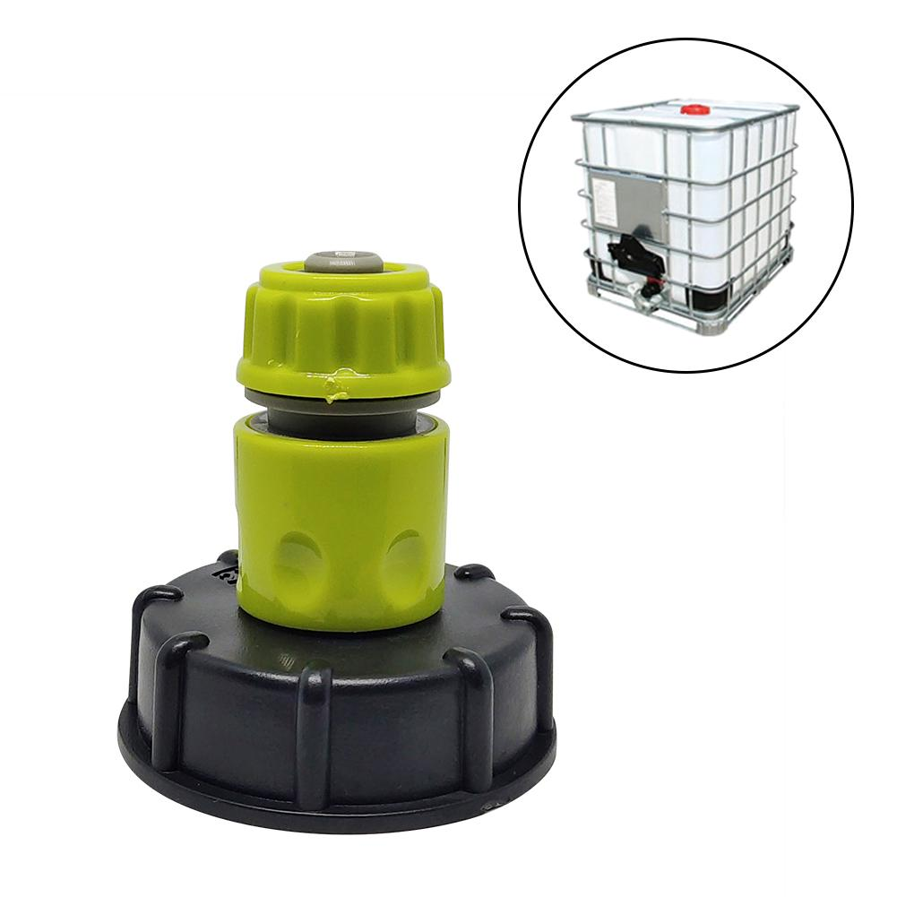 Garden Water Ball Valve For IBC Container S60X6 Adapter Plant Water Tap Cap With Male Thread Hose Connection