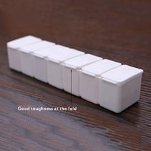 10 pçs caixa de pílula viagem portátil 7 dia caixa de pílula organizador de armazenamento recipiente tablet dispensador independente caso bill