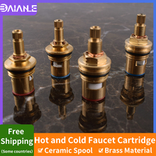 цена на Quick Opening Shower Faucet Cartridge Brass Hot and cold Water Tap Mixer Inner Faucet Valve Kitchen Bathroom Tap Accessories
