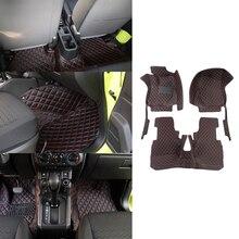 Floor Pad Foot Mat for Suzuki Jimny 2019 2020 JB74 Car Interior Accessories Mat Anti Skid Protection Red/Gold Line Car Styling