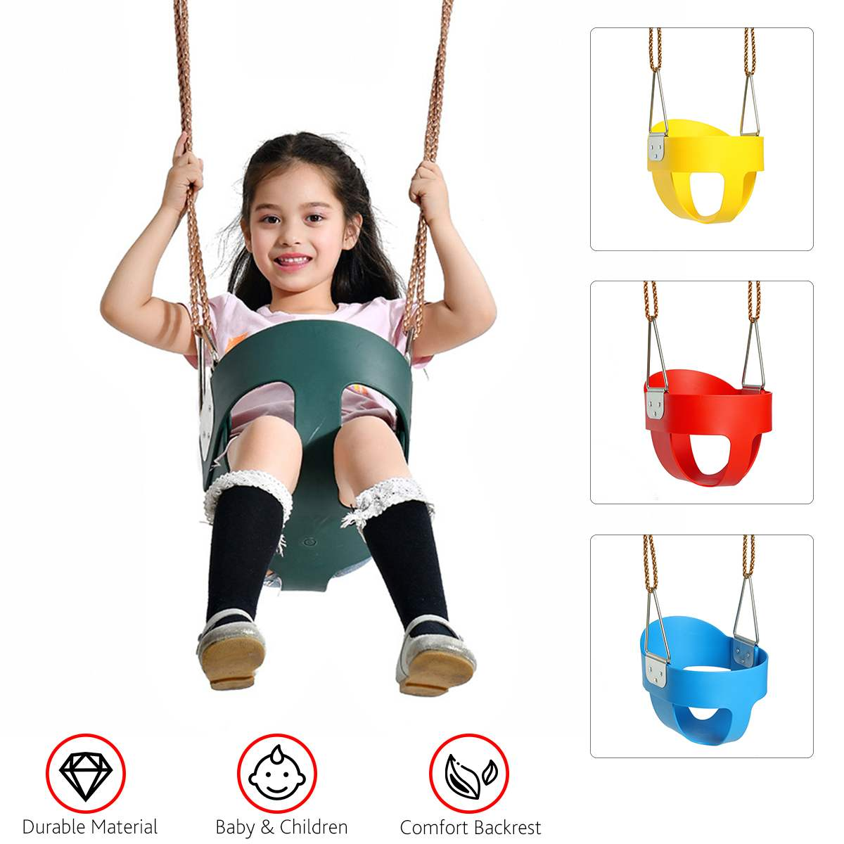 Altalena per bambini Set con accessori corda Outdoor Indoor Outdoor Garden