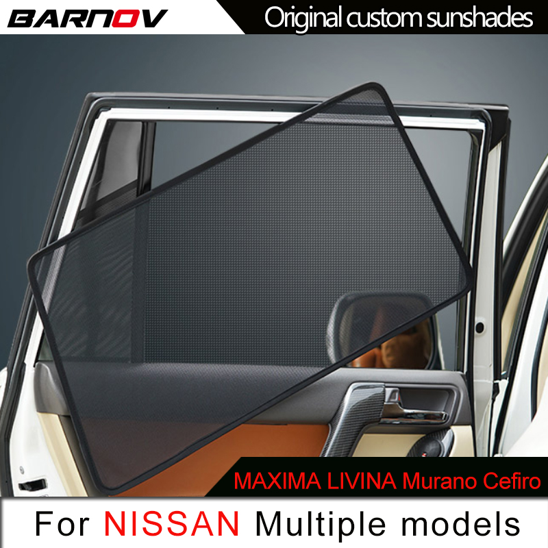 Car Special Magnetic Curtain Window SunShades Mesh Shade Blind Original Custom For Nissan Maxima Livina Murano Cefiro E51 E52