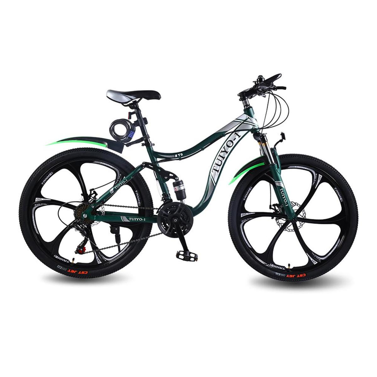 TUIYO T9 21 Speed 26 Inches Mountain Bike Carbon Steel Frame Road Bike Bicycle With Professional Bike Pedals For Men Women
