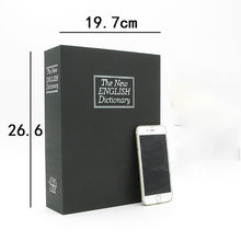 Mealheiro livro cofre grande caixa de senha banco do dinheiro mealheiro para crianças organizador de moedas cofre casa 60a034