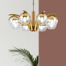Simple post-modern luxury gold-plated glass ball chandelier for living room dining room decoration LED E27 lighting 8 heads lamp simple post modern luxury gold plated glass ball chandelier for living room dining room decoration led e27 lighting 8 heads lamp