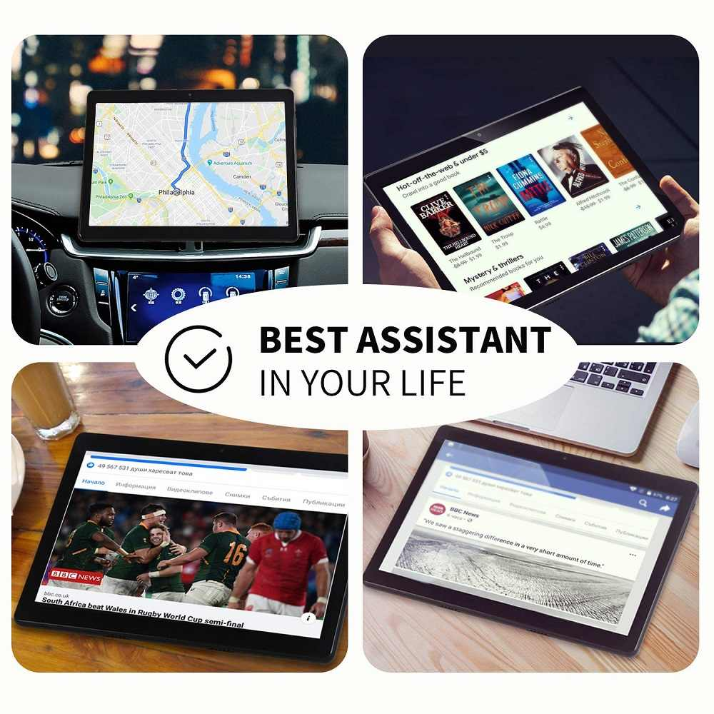 2020 Nieuwste 10 Inch Tablet Pc Android 9.0 Quad Core 32Gb Rom 5.0MP Ips 1280*800 Gps Wifi telefoon Tabletten 10.1 + 64Gb Geheugenkaart