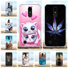 For LG K4 2017 Cover Ultra-slim Soft TPU Silicone M160 Phone Case Beach Patterned Phoenix 3 Fortune Shell Capa