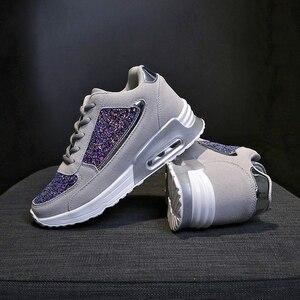 Image 4 - 2019 moda kadın rahat ayakkabılar yüksekliği artan spor ayakkabı kadınlar Glitter Sneakers platformu yürüyüş ayakkabısı zapatillas mujer