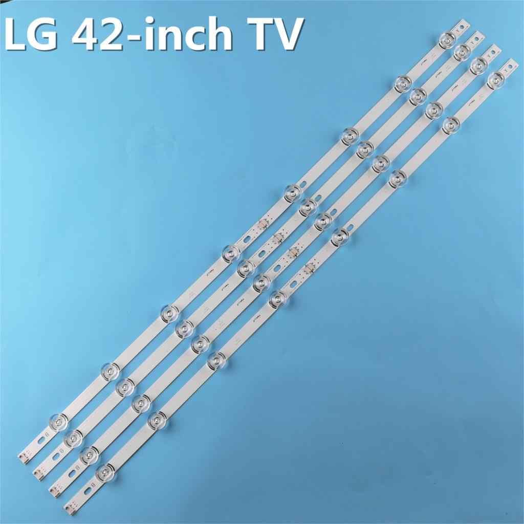 100% New-0riginal 8 قطعة/المجموعة LED شريط إضاءة خلفي بار ل LG LC420DUE 42LB3910 INNOTEK DRT 3.0 42 بوصة AB 6916L-1709A 6916L-1710A