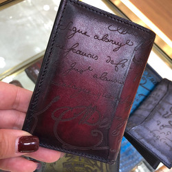 Card wallet credit card handmade cow leathermens and womens small wallet card clip fashion wallet