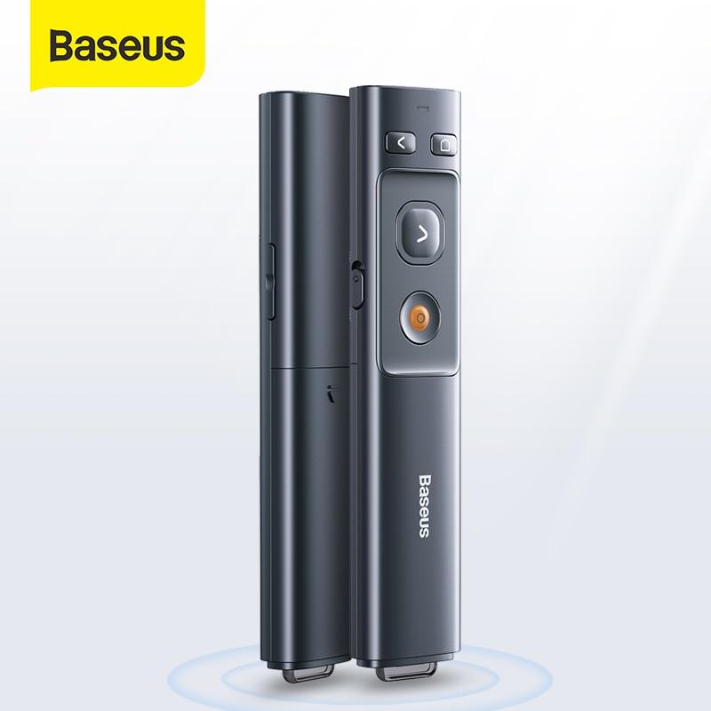 Baseus apresentador ponteiro laser sem fio 2.4ghz controle remoto para mac win projetor powerpoint apresentação caneta ppt