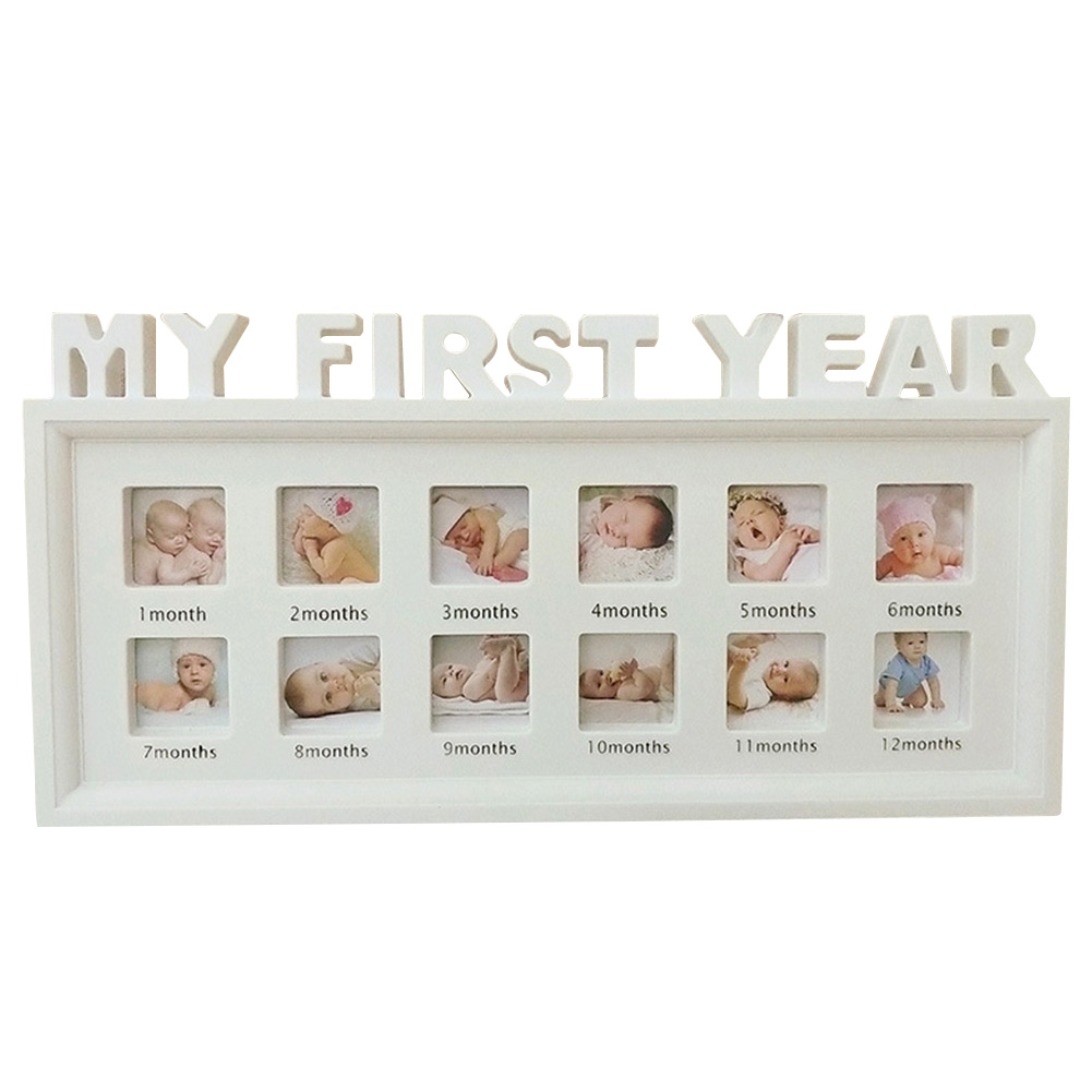 12 Months Picture PVC My First Year Desktop Home Decor Newborn Baby Girls Boys Souvenirs Multifunctional Photo Frame Ornaments