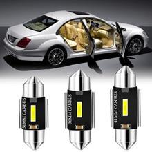 Ampoule LED Festoon C5W pour Volkswagen, pour Volkswagen VW T5 Golf 4 5 6 Passat B8 B6 B5 Polo 6R T4 Caddy Canbus, éclairage intérieur de voiture sans erreur