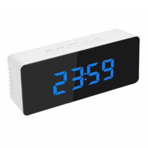 Зеркало светодиодный Настольный будильник светящийся цифровой Повтор время температуры Пробуждение светильник с подсветкой Настольные часы спальня