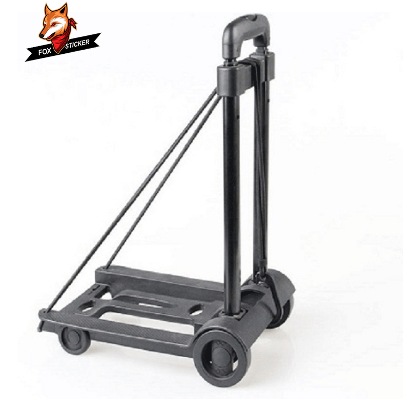 Aluminum Alloy Portable Travel Trailer Car Folding Luggage Cart Household and Car Luggage Cart Shopping Trolley Trunk Trailer