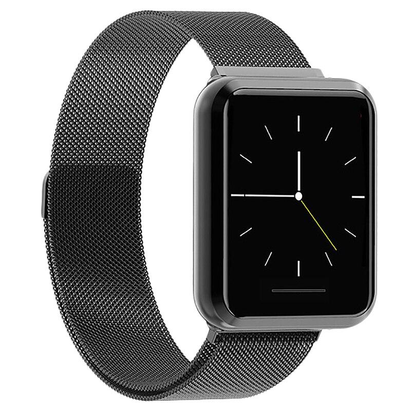 Kospet Dk08 Smartwatch bracelet en acier inoxydable Version anglaise Sport Mode Bluetooth Ip67 étanche montre intelligente hommes pour Ios Androi