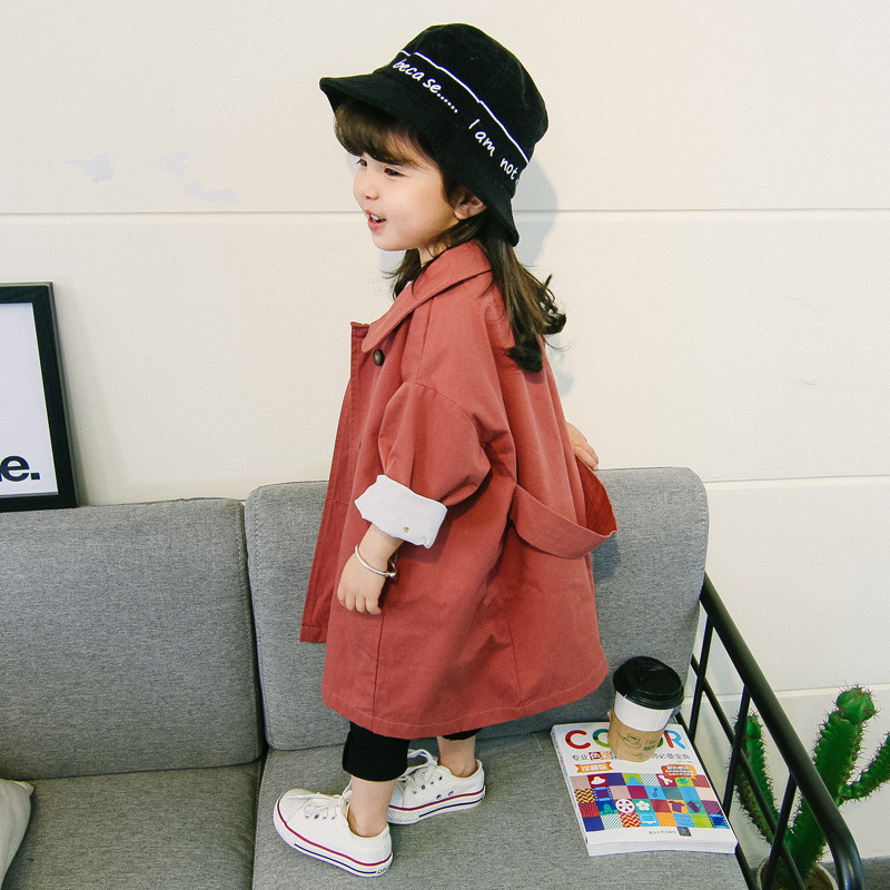 Girls Jackets Spring 2020 New Baby Autumn Windbreaker 2-6y Children Cute Double-breasted Coat Kids Trench Coat Girls Outwear