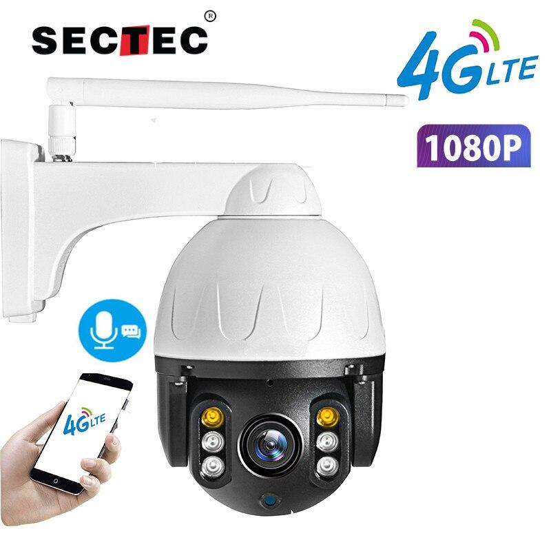 Cámara 4G WIFI 1080P cámara domo PTZ 2MP inalámbrica GSM tarjeta SIM IP cámara de seguridad al aire libre CCTV P2P IR visión nocturna 30M SDETER 1080P Mini cámara inalámbrica WiFi, cámara de seguridad IP CCTV, visión nocturna IR, detección de movimiento, Monitor de bebé P2P