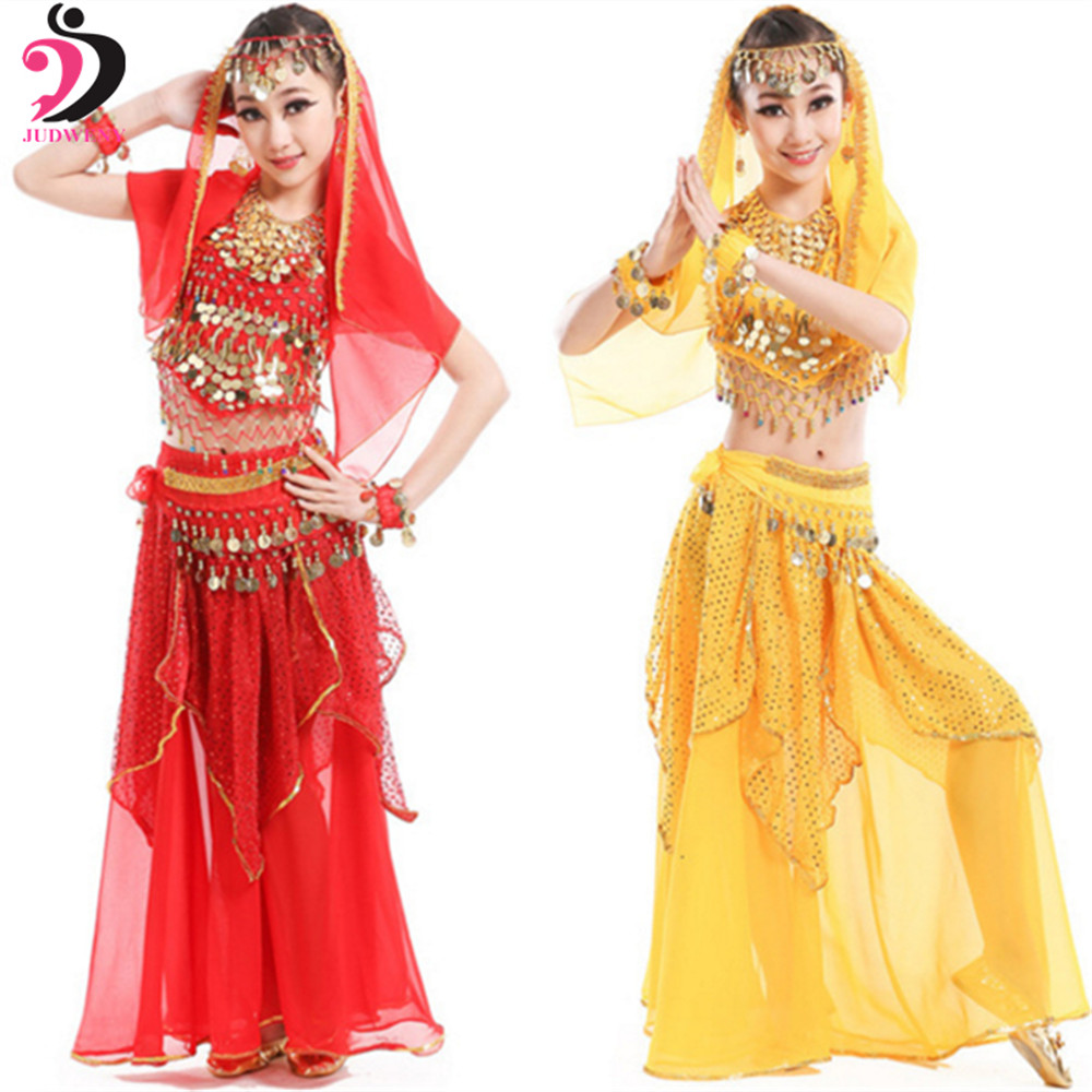 Belly Dance Costume Set Kids Women Children Belly Dancing Costumes Oriental Skirt Performance Competition Bollywood Indian Dress