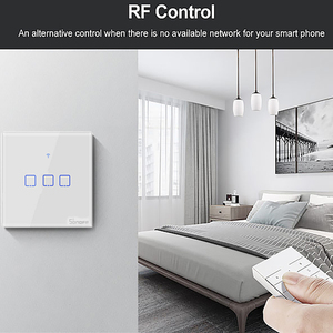 Image 3 - SONOFF T2 EU/UK 1/2/3 Gang Wifi Wall Panel Light Switch Socket 433mhz RF/Touch/eWelink Wireless Remote Control Google Home Alexa