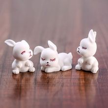 3Pcs/Set Modeling Cute Moe Rabbits Resin Figurine Home Garden Ornament Micro Landscape Craft Plant Pot Fairy DIY Decor 72XF
