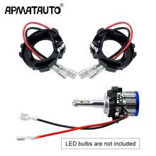 2 adet H7 LED Ampul Klip Tutucu Adaptör Baz Tutucu araba farı Kafa kafa lambası ışığı soket VW Golf 7 Için